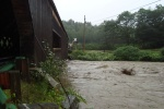 Rushing Water during Tropical Storm Irene.